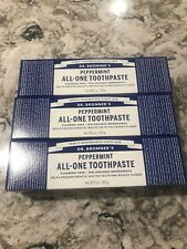 Dr Bronner's Peppermint All One Toothpaste New 3 Pack