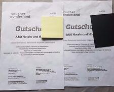 2x Gutschein A&O Hotels 3 Tage 2 Personen Frühstück zb Berlin Venedig München
