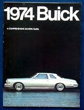 Prestige Prospekt brochure 1974 Buick  Riviera  Electra  LeSabre Regal (USA)