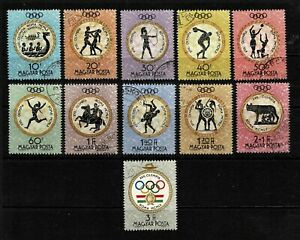Hungary 1960 Olympic Games Complete Set Of Eleven Stamps-MNG/CTO/MH