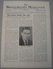 Bridegroom's Messenger - Feb-Mar 1954- Pentecostal Periodical - Atlanta, Georgia