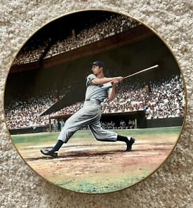 """Joe DiMaggio: The Streak"" Limited Edition Porcelain Plate with COA"