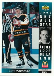 1993-94 UPPER DECK McDONALDS #13 STEVE YZERMAN NHL ALL STAR !! A62