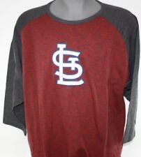 NEW Mens Majestic MLB St. Louis Cardinals Big & Tall 3/4 Sleeve Raglan T-Shirt
