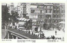 Old Bristol Postcard - The Bridge & High Street [Car No.112] c1905  2260