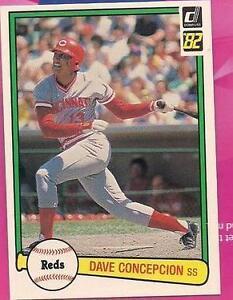 1982 Donruss Dave Concepcion #421 Baseball Card