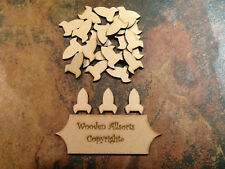 50x 3mm MDF rocket shapes, craft and embellishment 30x20mm