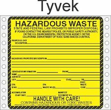 Non Regulated Material Tyvek Labels HWL276T (PACK OF 500)