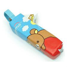 Rilakkuma Long Pencil Pouch Case W Handle : Blue