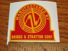 Montgomery Wards Briggs & Stratton MW decal Y, WM, 5S