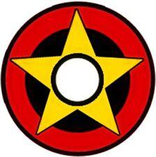 Pinewood Derby Car Wheel Decal Star Bullseye