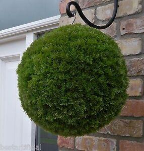 Best Artificial Conifer Topiary Ball Hanging Basket Garden alt Boxwood Cedar New