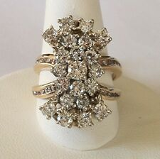 Amazing 14k Cluster Cocktail Ring 45 Diamonds Size 7, Over $4,500