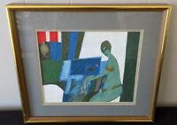 Ted Ramsay 'Version 2, Figure study'  original acrylic painting Michigan artist