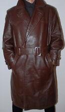 Men's Genuine Post WW2 German Officer Leather Jacket Coat 52 / UK 42 / Large