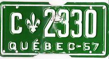 🌟🌟 🌟🌟 AUTHENTIC CANADA 1957 QUEBEC LICENSE PLATE.  C-2330