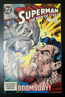 "1993 DC Comics Superman: The Man Of Steel ""DOOMSDAY!"" 1st Print. New."