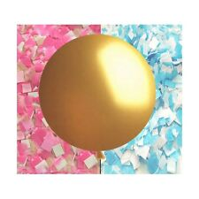 """Gender Reveal Balloon in GOLD!!! - Giant 36"""" balloon with confetti"""