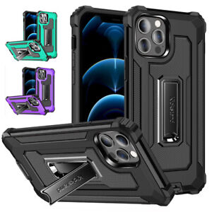 Shockproof Case Armor Stand Hard Back Cover for iPhone 12 11 Pro Max XS XR 6S 7