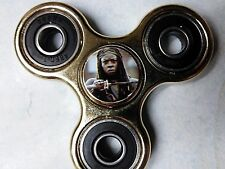 Walking Dead Michonne print Gold Chrome Metal Fidget Spinner IN STOCK FREE SHIP