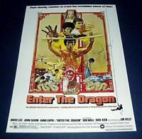 """ENTER THE DRAGON PP SIGNED PHOTO POSTER 12X8"""" A4 BRUCE LEE"""