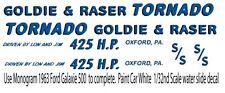 1963 Ford Galaxie Tornado Drag NHRA 1/43rd Scale Slot Car Waterslide Decals