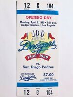 "Lot of (3) 1990 LOS ANGELES DODGERS ""OPENING DAY"" TICKET STUB vs. PADRES"