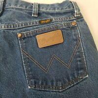 "Vintage 90s Wrangler Blue Jeans Denim Cowboy Straight Leg 34"" x 36.5"" Tall"