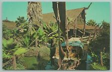 San Pedro California~Sampan In lagoon Ports of Call Restaurant~Vintage Postcard