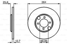 2x Bremsscheibe für Bremsanlage Hinterachse BOSCH 0 986 478 689