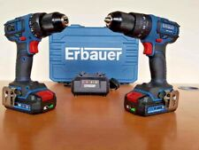 BRUSHLESS Erbauer Combi Drill ECD18-Li eri691com + Drill Driver EDD18-Li *TWIN*