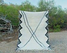 Rug Beni Ourain Moroccan Handmade 100% Wool Shag Rug, Berber Carpet