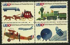 US Scott #1572-75, Block of 4 1975 Postal Service Bicentennial 10c FVF MNH
