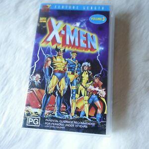 X-MEN VOL.3 VHS Video Tape 2000 MARVEL Superhero SCI-FI FANTASY Adventure KIDS