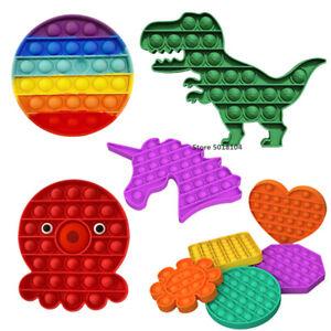 Push Pop Bubble Fidget Antistress Toys Adult Kids Unicorn Pop Fidget Sensory Toy