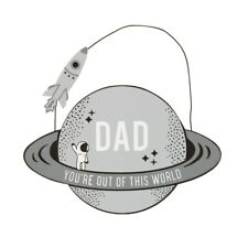 Dad You're Out Of This World Grey Wooden Plaque Hanging Sign Plaque Gift