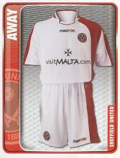 314 AWAY KIT ENGLAND SHEFFIELD UNITED STICKER FL CHAMPIONSHIP 2010 PANINI