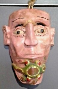 Antique Mexican Wood Mask