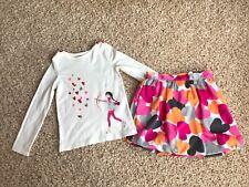Gymboree Valentine Heat Top Bubble Skirt 8 9 Guc Euc