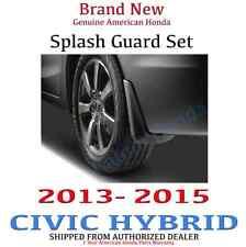 2013-2015 Honda Civic HYBRID Genuine OEM 4dr Splash Guard Set (08P00-TR0-100A)