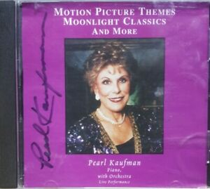 Autographed Signed Motion Picture Themes Moonlight Classics And More CD