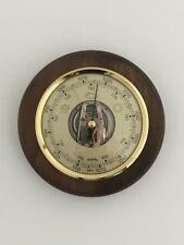 Traditional Weather Barometer Walnut Finish Wood Frame Ideal Gift