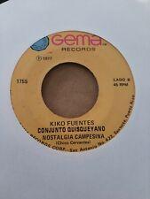 Kiko Fuentes Conjunto Quisqueya Sombrero De Paja Gema Record VG 45RPM #2303