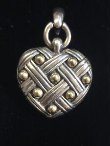 ANN KING 18K GOLD / STERLING SILVER SS 925 HEART PENDANT ENHANCER