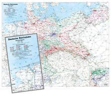 Deutschland 1938 - Karte der Reichsbahndirektionen - Historische Karte (Reprint)