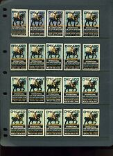 26 DIFFERENT CHICAGO INTERNATIONAL LIVE STOCK EXPO POSTER STAMPS 1925//1958 L159