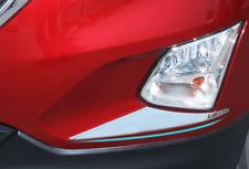 Chrome Front Fog Light Eyelid Trim for Chevy Equinox 2018 2019