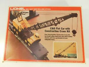 LIONEL C&O Flat Car w/Harginsfarger Construction Crane O Gauge 6-9157 NEW