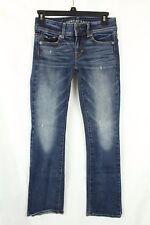 American Eagle Juniors 00 Jeans Distressed Boot Cut Denim