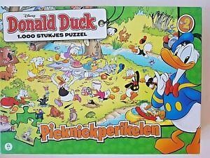 Donald Duck Picnic Troubles 1000 Pieces Disney Jigsaw Puzzle RARE